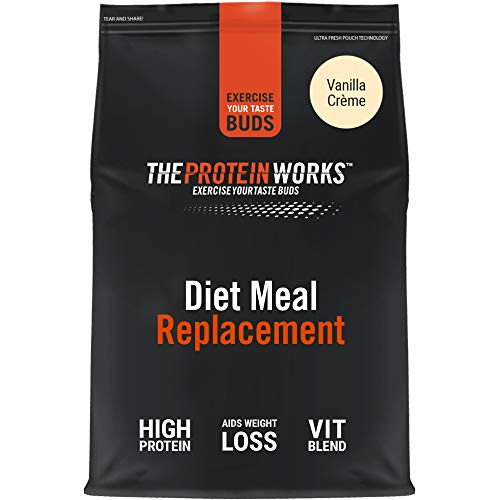 THE PROTEIN WORKS Diet Meal Replacement Shake | Nutrient Dense Complete Meal | Immunity Boosting Vitamins, Affortable | Healthy And Quick | Vanilla Crème | 500 g