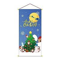1個 クリスマス吊り布 装飾タペストリー 屋内 シーン レイアウト 吊り布 クリスマスの飾り 配達3〜5労働日まで