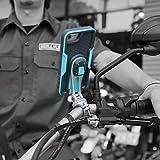 Handyhalterung X-Guard iPhone 5/5S/SE/7/8/7 Plus/8 Plus/X/XS/XS Max/11/11 Pro/11 Pro Max/Universal Lenker CNC Montageset mit Hülle Motorrad Roller Fahrrad eBike (Uni 6