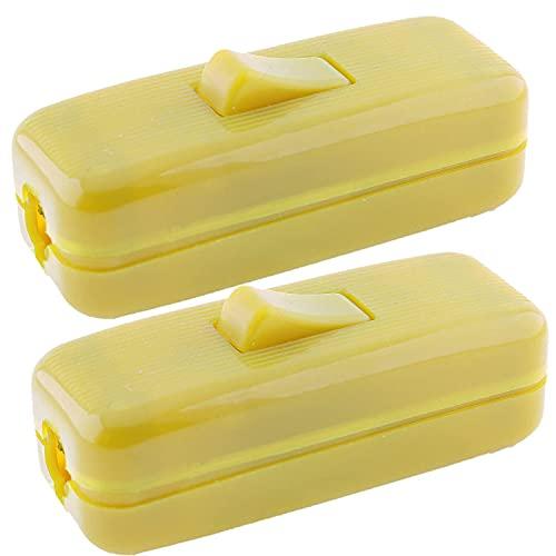 Interruptor en línea de 6 amperios de calidad en paquete doble en oro para pequeño aparato o lámpara acepta 1-3 núcleos de alambre redondo o plano
