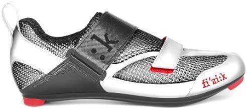 Fizik Men's K5 Uomo Triathlon Cycling Shoes, Grey/Red, Size 42.5