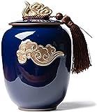 Mopoq Geyao Cerámica Cerámica Té Tamaño SELLADO CANS PU'er Tea Tea Latas de almacenamiento de té, Cajas de té chinas, latas de té con tapas selladas, usadas para té, café, almacenamiento en el hogar,