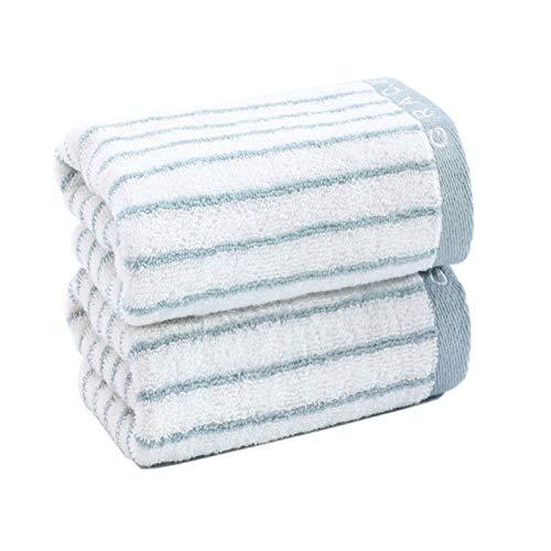 CMZ Toallas Gruesas de algodón Puro Lavables absorbentes de Agua, Toallas de algodón para el Lavado Facial de Adultos (34x72 cm)