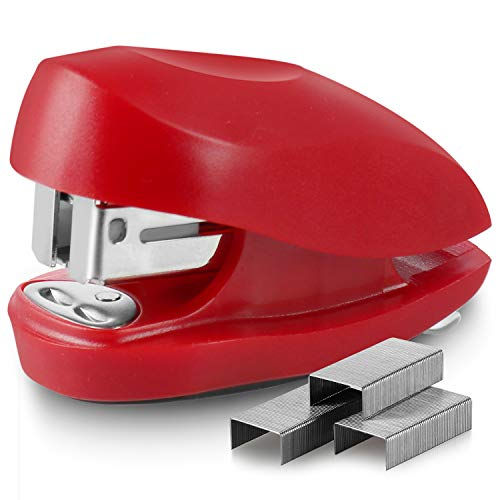 Swingline Red Mini Stapler With Staples Tot 12 Sheet Capacity Small Stapler With Built In Staple Remover amp 1000 Standard Staples Staple Storage Cute Compact Travel Size Stapler For Adults amp Kids