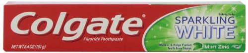 Colgate Sparkling White Fluoride Toothpaste with Baking Soda & Peroxide, Mint Zing , 6.4 oz