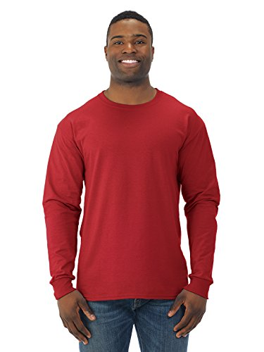 Jerzees 29L_AP Jz Tee 50/50 L/S - Rouge - Medium
