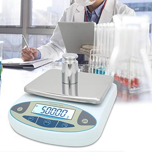 【𝐎𝐬𝐭𝐞𝐫𝐟ö𝐫𝐝𝐞𝐫𝐮𝐧𝐠𝐬𝐦𝐨𝐧𝐚𝐭】 Laboranalysenwaagen, 5000g 0,01g Digitales Präzisionswaagenlabor mit elektronischer Waage für Reserch Jewelry 100-240V(EU)