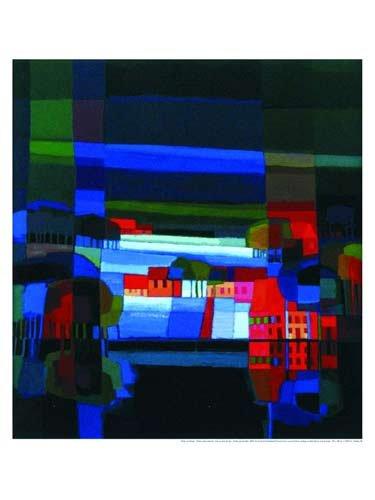 Art-Galerie Kunstdruck/Poster Ton Schulten - Winter at The Waterside - 60 x 80cm - Premiumqualität - Made IN Germany SHOPde