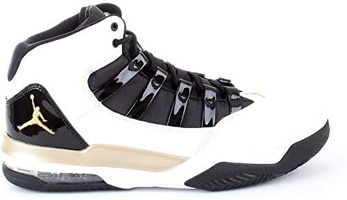 Nike Herren Jordan MAX Aura Hohe Sneaker, Mehrfarbig (White/Metallic Gold-Black 107), 42 EU