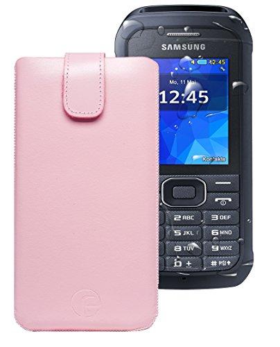 Favory ® Etui Tasche für / Samsung Xcover 550 (SM-B550H) / Leder Handytasche Ledertasche Schutzhülle Hülle Hülle *Lasche mit Rückzugfunktion* rosa