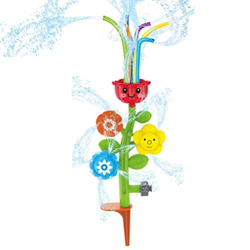 ABCDJHH Aspersor en forma de flor, juguete divertido para baño maría, fuente intermitente, tiempo de baño 8 – 12 meses, spray de agua giratorio, juguete de baño para bebé