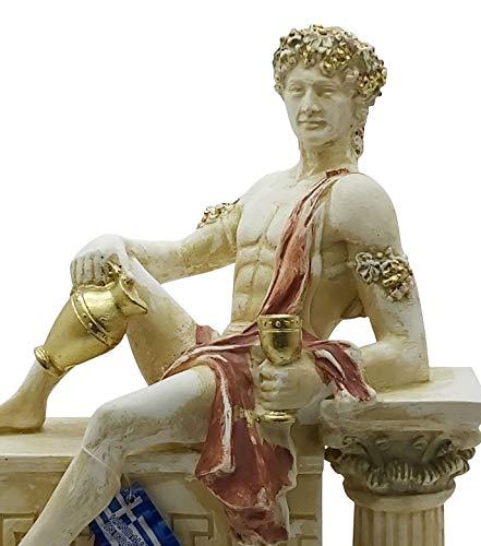 Dionysus Bacchus griechischer Weingott Statue Skulptur Steinguss