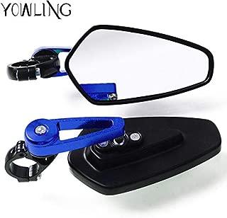 Value-Home-Tools - Handlebar Bar End Mirror Side Motor Rear View Mirrors Grips For Honda CBF1000 CB1300 CBR600F CBR 250 600 900 1000RR F2 F3 F4 F4I