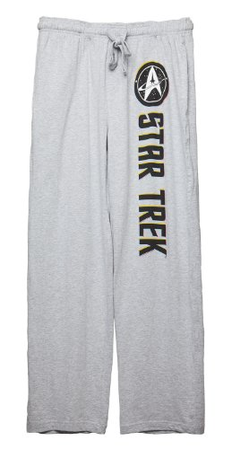 Bioworld Star Trek Logo Lounge Pants (Medium) Grey