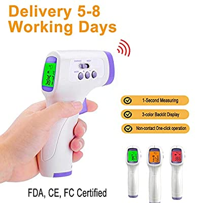 Non-Contact Infrared Thermometer, Digital Infrared Forehead Thermometer Gun, with Fever Alert Function, Forehead Thermometer for Baby and Adult, 1s One-Click Operation, 2nd Generation Upgrade