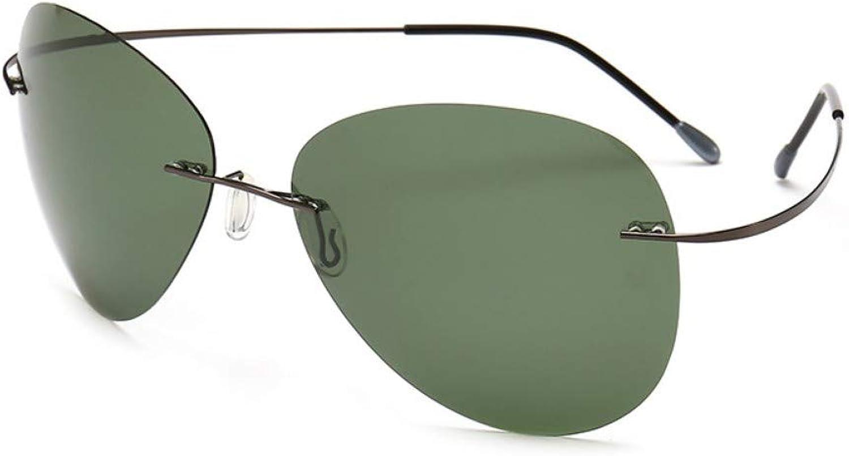 Sonnenbrille Ultralight Square Titan Polarisierte Sonnenbrillen Randlos Fahren Schwarz Cyan Aviation Sonnenbrille Uv400 Geschenk B07Q7G7ZPH  Verwendet in der Haltbarkeit