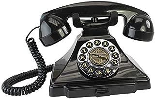 Design Toscano Antique Phone - Film Noir 1928 Rotary Telephone - Corded Retro Phone - Vintage Decorative Telephones