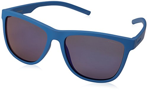 Polaroid PLD 6014/S JY ZDI Occhiali da Sole, Blu (Bluette/Greyblmirror Pz), 56 Unisex-Adulto