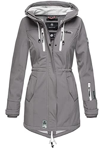 Marikoo Damen Softshell-Jacke Outdoorjacke Zimtzicke Grau Gr. M