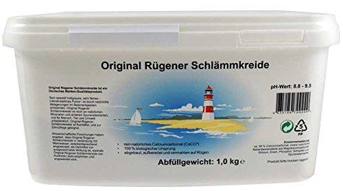 Original Rügener Schlämmkreide / 1,0 Kg Calciumcarbonat/reines und allergenfreies Naturprodukt Fluoridfrei