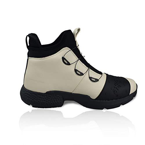 MADBIKE - Stivali da moto leggeri da uomo, impermeabili, per moto, motocross, sport da corsa, suola antiscivolo (beige, 42)