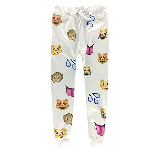 HHKLSF Trainingsanzüge für Herren Trainingshosen und Hoodies für lässige Jogginganzüge für Herren Emoji Print Sportswear, Hosen, S