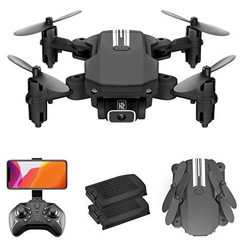 GoolRC LS- MIN Mini Drone con cámara 4K RC Quadcopter 13mins Tiempo de Vuelo 360 ° Flip Gesto Foto Video Pista Vuelo Altitud Control de Retención Remoto sin Cabeza para Niños Adultos (Negro,  2 Batería)
