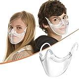 1 Stück Neu Gute Qualität Kinder Transparente Gesichtsschutz, Half Face Visier Kunststoff Klarer Gesichtsschutzschirm für Jungen Mädchen, Anti-Fog Anti-Öl Splash Transparent Schutzvisier