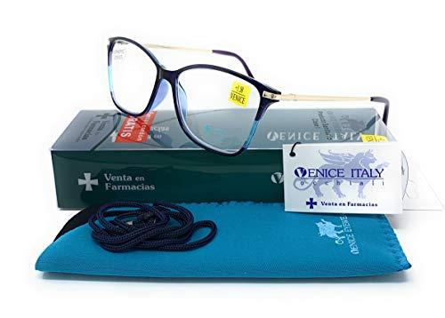 Gafas de lectura presbicia vista cansada. Butterfly venice navy 3.50x