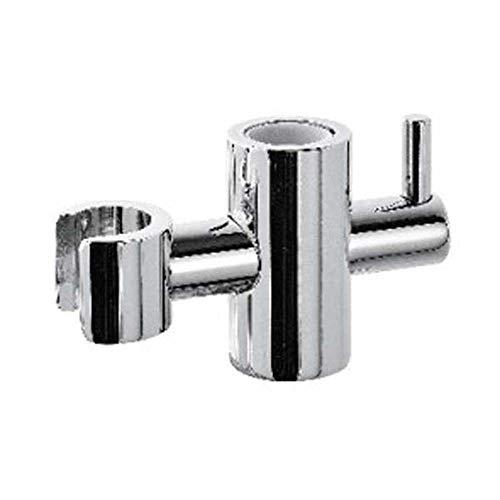 Support coulissant en ABS chromé pour barre de douche diamètre 20 mm SC 208 laiton