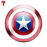 Captain America Shield Full Metal Handheld Movie Edition Bar Creative Soft Wall Decoration Pendant Aluminum America Men's Props Adult Cosplay Shield