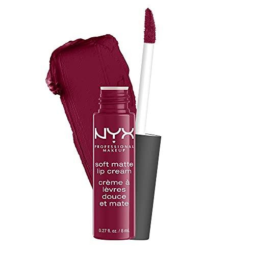 NYX Professional Makeup Pintalabios Soft Matte Lip Cream, Acabado cremoso mate, Color ultrapigmentado, Larga duración, Fórmula vegana, Tono: Copenhagen