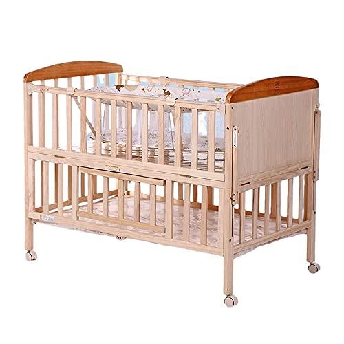 Lettino portatile in legno con cassetto, trasformabile in divano letto, divano letto per bambini, 2 posizioni regolabili, legno di pino massiccio