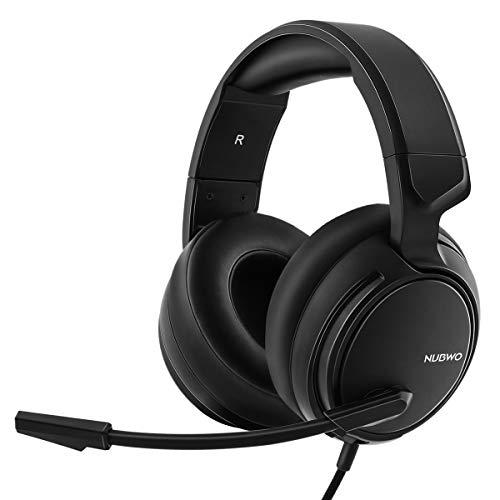 NUBWO N12 Xbox One PS4 auriculares para juegos, auriculares estéreo con cable con control de volumen y silencio, auriculares con micrófono de reducción de ruido para...