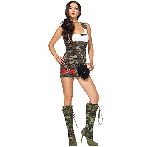 YyiHan Cosplay Disfraz, El Campo de Entrenamiento Militar de Camuflaje Instructor Militar Uniforme Juego de Maquillaje de Halloween Cosplay Uniforme Traje del Partido Ropa Puesta en Escena