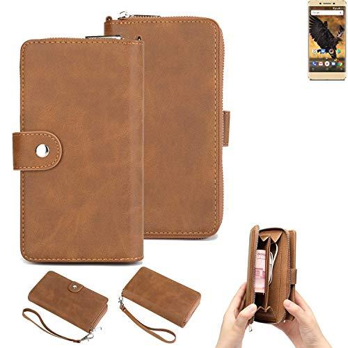 K-S-Trade 2in1 Handyhülle Für Allview P8 Pro Schutzhülle und Portemonnee Schutzhülle Tasche Handytasche Hülle Etui Geldbörse Wallet Bookstyle Hülle Braun (1x)