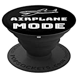 Sarcastic Funny Airplane Mode PopSockets Grip and Stand for Phones and Tablets