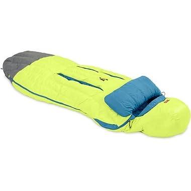 Nemo Men's Disco 30-Degree Insulated Down Sleeping Bag, Key Lime/Deep Sea, Regular
