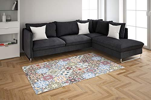 Oedim Alfombra Mosaico Colores para Habitaciones PVC   95 x 133 cm   Moqueta PVC   Suelo vinílico   Decoración del Hogar   Suelo Sintasol   Suelo de Protección  
