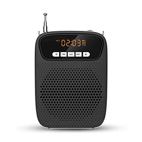 UOEIDOSB Mini Amplificador de Voz Recargable portátil liviano de 15W con micrófono Auriculares
