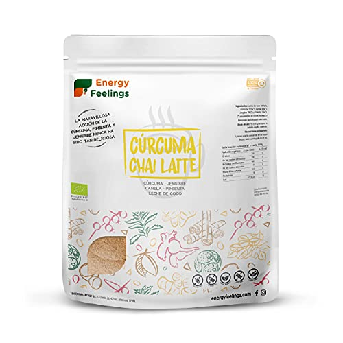 Energy Feelings Cúrcuma Chai Latte Ecológico, XL - 500 gr