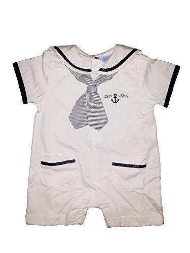 BIDIBIMBO Tutina Pagliaccetto neonata Mezza Manica Puro Cotone Art P156