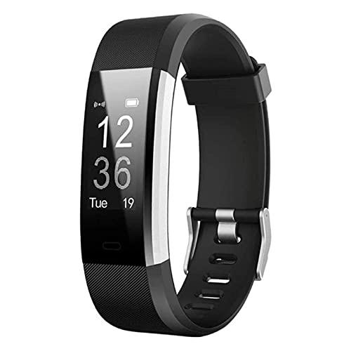 L.B.S Reloj Inteligente S5 con Pulsera y Seguimiento de Actividad con Monitor de frecuencia cardíaca, Reloj Inteligente Resistente al Agua para Hombres y Mujeres con podómetro para Android iOS(D)
