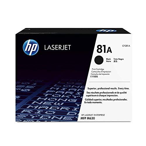 HP 81A (CF281A) Schwarz Original Toner für HP Laserjet Enterprise M604, M605d, M606, Flow M630