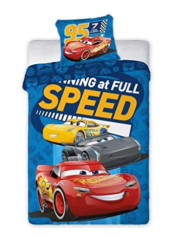 Cars Disney 3 kinderbeddengoedset 2-delig beddengoed 140 x 200 cm + kussensloop 70 x 90 cm auto jongens