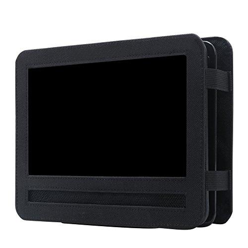 Funda de soporte para reposacabezas de coche para reproductores de DVD portátiles, Oxford negra para reposacabezas de coche (10 pulgadas)