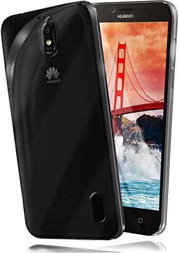 moex Aero Hülle kompatibel mit Huawei Y625 - Hülle aus Silikon, komplett transparent, Klarsicht Handy Schutzhülle Ultra dünn, Handyhülle durchsichtig einfarbig, Klar