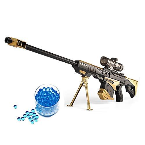 JINGYD Pistola de Juguete con Bomba de Agua, Combate Militar Barrett Rifle de Francotirador, Niños al Aire Libre CS Rifle de Francotirador de Juguete con Bomba de Agua + 20000 Crystal Bullet