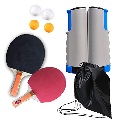Buy AGAWA Ping Pong Set,Portable Table Tennis Paddles Set,2 Pro Premium Rackets, 4 Balls,1 Table Ten...