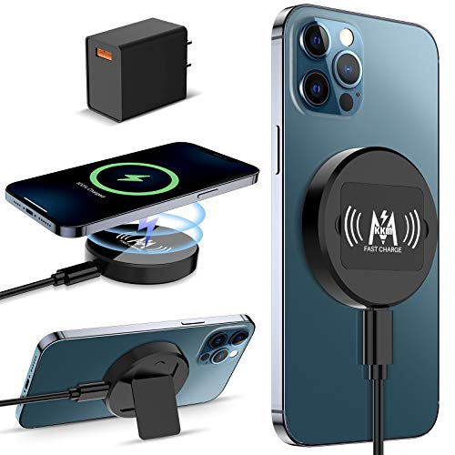 KKM Magnetic Wireless Charger, Compatible with MagSafe Charger, 15W Fast Wireless Charging Pad for...